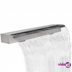"""Rectangular Waterfall Pool Fountain Stainless Steel 59""""  - Silver"""