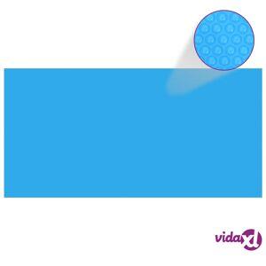 "vidaXL Pool Cover Blue 383.9""x192.1"" PE  - Blue"