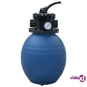 "vidaXL Pool Sand Filter with 4 Position Valve Blue 11.8""  - Blue"