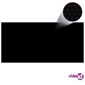 "vidaXL Floating PE Solar Pool Film 177.2""x86.6"" Black and Blue  - Black"
