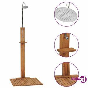 """vidaXL Garden Shower 29.5""""x29.5""""x82.7"""" Solid Teak Wood  - Brown"""