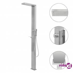 vidaXL Outdoor Shower Stainless Steel Square  - Silver