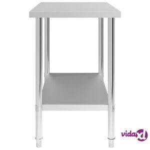 """vidaXL Kitchen Work Table 39.4""""x23.6""""x33.5"""" Stainless Steel"""