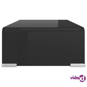 "vidaXL TV Stand / Monitor Riser Glass Black 15.7""x9.8""x4.3""  - Black"