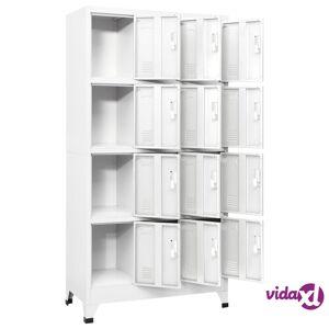 "vidaXL Locker Cabinet with 12 Compartments 35.4""x17.7""x70.9""  - Grey"