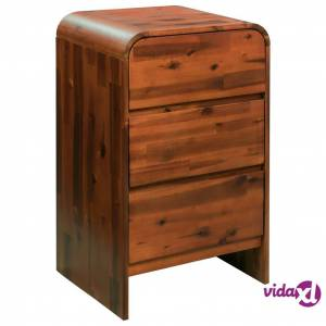 """vidaXL Chest of Drawers Solid Acacia Wood 17.7""""x14.5""""x29.5""""  - Brown"""