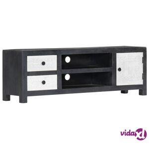 "vidaXL Hand Carved TV Cabinet Gray 47.2""x11.8""x15.8"" Solid Mango Wood  - Grey"