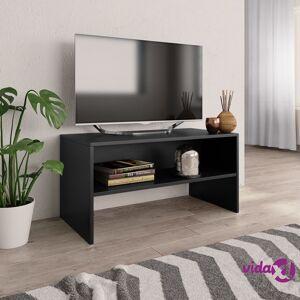 """vidaXL TV Cabinet Black 31.5""""x15.7""""x15.7"""" Chipboard  - Black"""