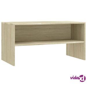 "vidaXL TV Cabinet Sonoma Oak 31.5""x15.7""x15.7"" Chipboard  - Brown"