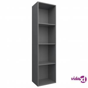 "vidaXL Book Cabinet/TV Cabinet Gray 14.2""x11.8""x56.3"" Chipboard  - Grey"