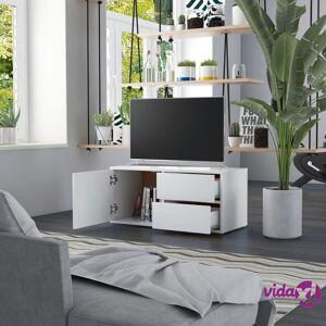 """vidaXL TV Cabinet White 31.5""""x13.4""""x14.1"""" Chipboard  - White"""