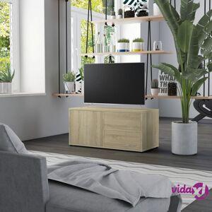"vidaXL TV Cabinet Sonoma Oak 31.5""x13.4""x14.1"" Chipboard  - Brown"