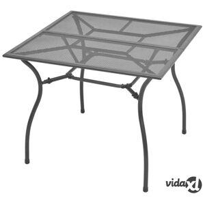 "vidaXL Garden Table 35.4""x35.4""x28.3"" Steel Mesh  - Grey"