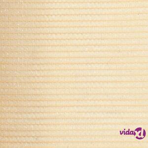 vidaXL Privacy Net HDPE 3.2'x82' Beige  - Beige