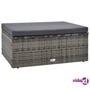 vidaXL 5 Piece Garden Lounge Set with Cushions Poly Rattan Gray  - Grey
