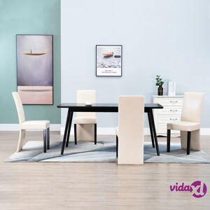 vidaXL Dining Chairs 4 pcs Cream Faux Leather  - Cream