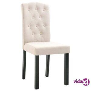 vidaXL Dining Chairs 4 pcs Cream Fabric  - Cream