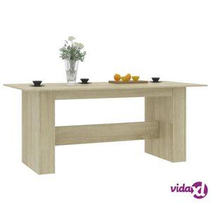 "vidaXL Dining Table Sonoma Oak 70.8""x35.4""x29.9"" Chipboard  - Brown"