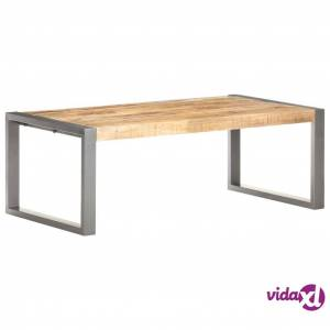"vidaXL Coffee Table 43.3""x23.6""x15.7"" Solid Wood with Sheesham Finish  - Brown"