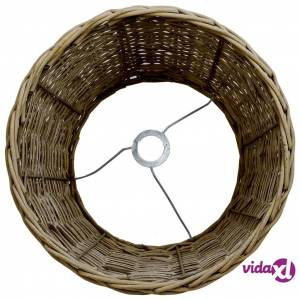 "vidaXL Lamp Shade Wicker 17.7""x11"" Brown  - Brown"