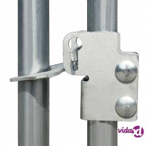 """vidaXL Outdoor Chicken Cage Galvanized Steel 6'6""""x6'6""""x6'3""""  - Silver"""
