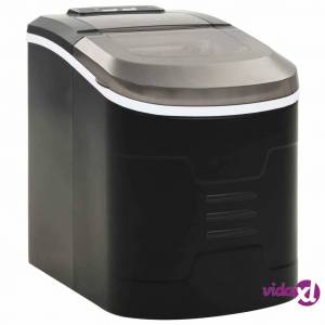 vidaXL Ice Cube Maker Black 0.6gal 33.1 lbs / 24 h  - Black