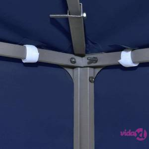 "vidaXL 2-Tier Gazebo Top Cover 0.68lb/m² 157.5""x118.1"" Blue  - Blue"