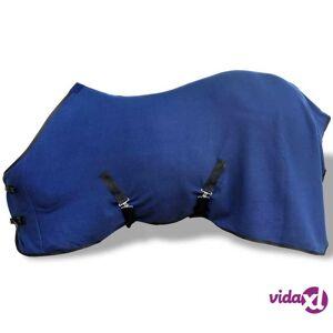 "vidaXL Fleece Rug with Surcingles 61"" Blue  - Blue"