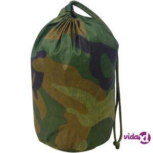 vidaXL Camouflage Net with Storage Bag 4.9'x9.8'  - Green