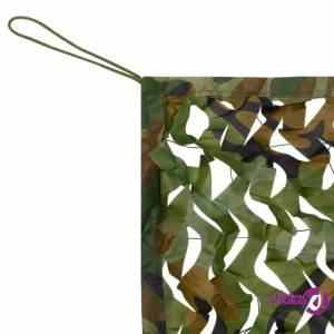 vidaXL Camouflage Net with Storage Bag 9.8'x9.8'  - Green