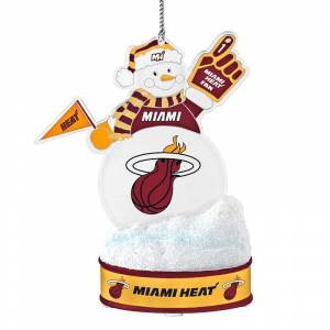 Miami Heat LED Snowman Ornament