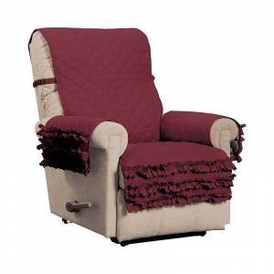 Innovative Textiles Claremont Ruff. Recliner Slipcover, Red