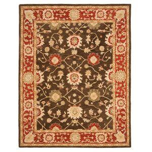 Safavieh Anatolia Pennington Framed Floral Wool Rug, Green, 8Ft Rnd