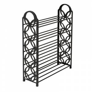 Honey-Can-Do 5-Shelf Lightweight Shoe Rack, Black