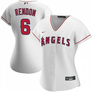 Nike Women's Nike Anthony Rendon White Los Angeles Angels Home 2020 Replica Player Jersey, Size: 2XL