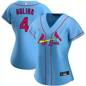 Nike Women's Nike Yadier Molina Light Blue St. Louis Cardinals Alternate 2020 Replica Player Jersey, Size: Small