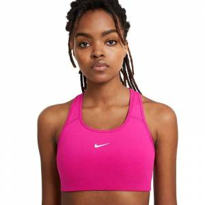 Nike Women's Nike Swoosh Medium Impact Padded Sports Bra, Women's, Med Red