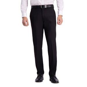 Men's Haggar Active Series Straight-Fit Dress Pants, Size: 34 X 32, Black