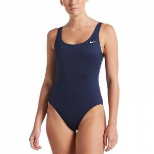 Nike Women's Nike Essential U-Back One Piece Swimsuit, Size: XXL, Turquoise/Blue