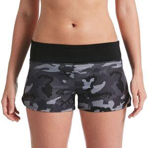 Nike Women's Nike Camo Swim Boardshorts, Size: XXL, Black