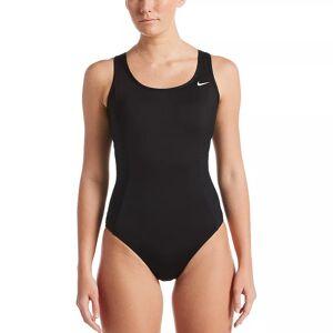 Nike Women's Nike Keyhole Back One-Piece Swimsuit, Size: XXL, Black