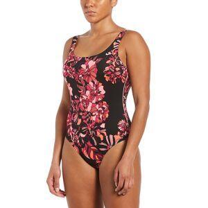 Nike Women's Nike Floral U-Back One-Piece Swimsuit, Size: XXL, Black