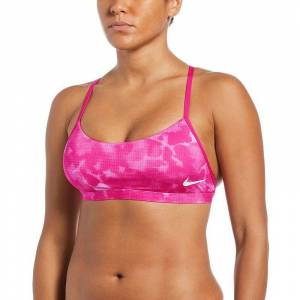 Nike Women's Nike Print Strappy Bikini Top, Size: XXL, Purple