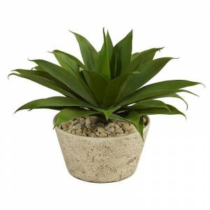 nearly natural Artificial Agave Succulent Plant Floor Decor, Green