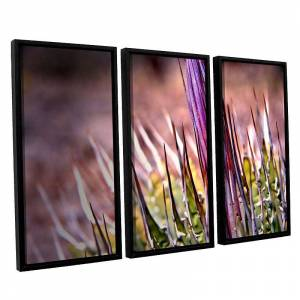 ArtWall Agave Framed Wall Art 3-piece Set, Purple, Large