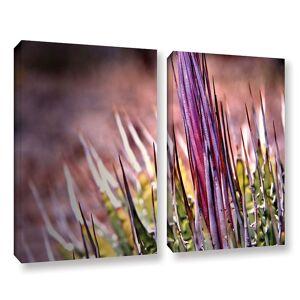 ArtWall Agave Canvas Wall Art 2-piece Set, Purple, Large