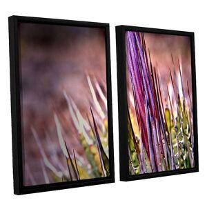 ArtWall Agave Framed Wall Art 2-piece Set, Purple, Medium