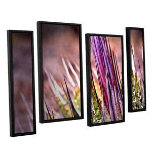 ArtWall Agave Framed Wall Art 4-piece Set, Purple, Small