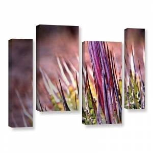 ArtWall Agave Canvas Wall Art 4-piece Set, Purple, Medium