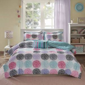 Zone Mi Zone Audrina Reversible Comforter Set, Purple, Full/Queen